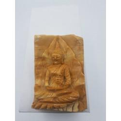 boeddha versteend hout