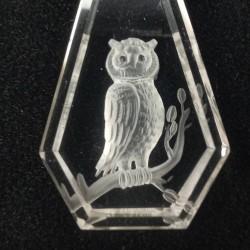 Uil in bergkristal 2,5 cm